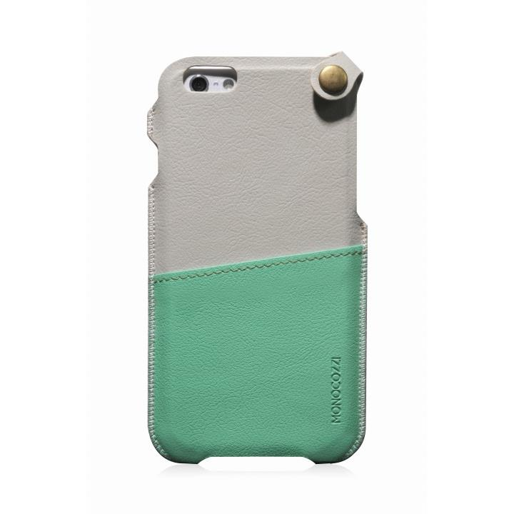 MONOCOZZI ソフトPUレザーポーチケース クリーム/グリーン iPhone 6 ケース