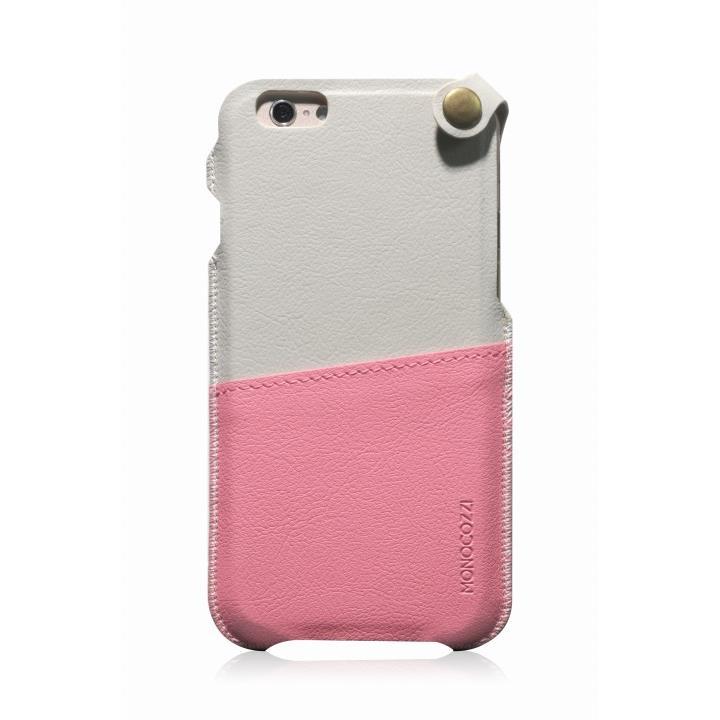 iPhone6 ケース MONOCOZZI ソフトPUレザーポーチケース クリーム/ピンク iPhone 6 ケース_0