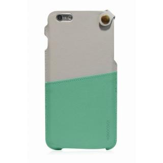 MONOCOZZI ソフトPUレザーポーチケース クリーム/グリーン iPhone 6 Plusケース
