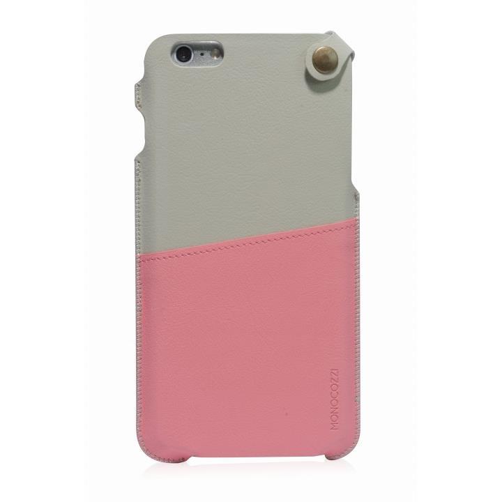 iPhone6 Plus ケース MONOCOZZI ソフトPUレザーポーチケース クリーム/ピンク iPhone 6 Plusケース_0