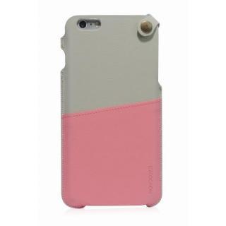 【iPhone6 Plusケース】MONOCOZZI ソフトPUレザーポーチケース クリーム/ピンク iPhone 6 Plusケース