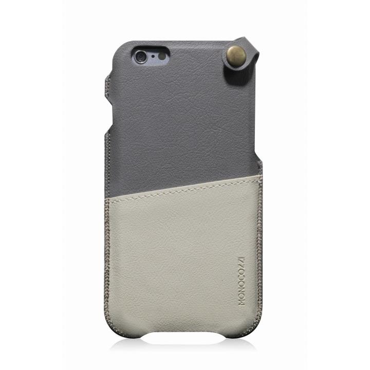 【iPhone6ケース】MONOCOZZI ソフトPUレザーポーチケース グレー/クリーム iPhone 6 ケース_0