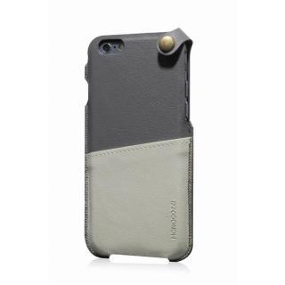 【iPhone6ケース】MONOCOZZI ソフトPUレザーポーチケース グレー/クリーム iPhone 6 ケース_1