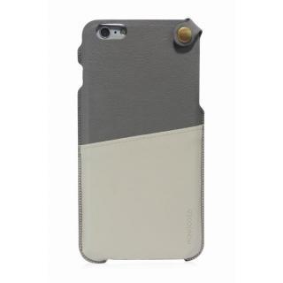 MONOCOZZI ソフトPUレザーポーチケース グレー/クリーム iPhone 6 Plusケース