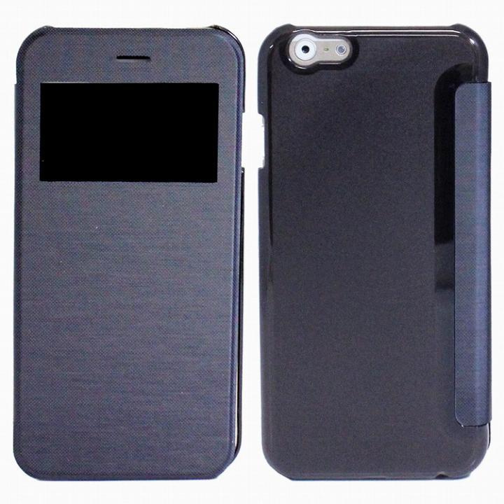 iPhone6s Plus/6 Plus ケース 小窓付き横開きケース  ネイビー iPhone 6s Plus/6 Plusケース_0