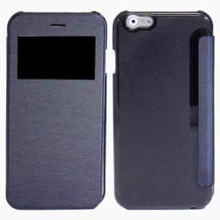 小窓付き横開きケース  ネイビー iPhone 6s Plus/6 Plusケース