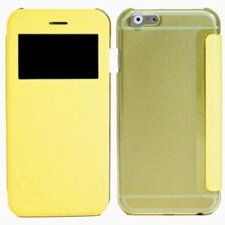 小窓付き横開きケース  イエロー iPhone 6 Plusケース