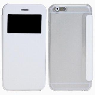 小窓付き横開きケース  ホワイト iPhone 6 Plusケース