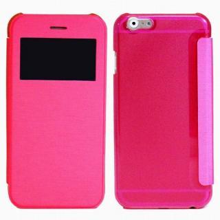 小窓付き横開きケース  ピンク iPhone 6 Plusケース
