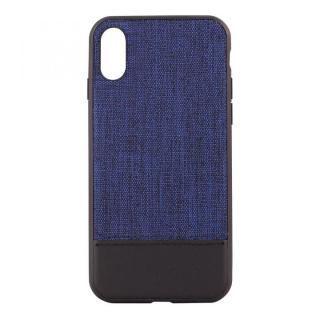 STD ハイブリッドケース バイカラー ブルー/ブラック iPhone X
