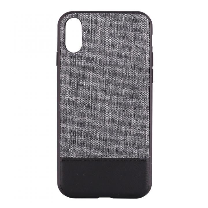 【iPhone Xケース】STD ハイブリッドケース バイカラー グレー/ブラック iPhone X_0