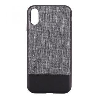 【iPhone X ケース】STD ハイブリッドケース バイカラー グレー/ブラック iPhone X