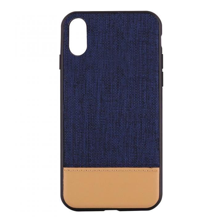 【iPhone Xケース】STD ハイブリッドケース バイカラー ネイビー/キャメル iPhone X_0