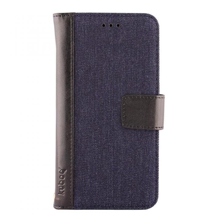 [2018新生活応援特価]kuboq 手帳型ケース デニム インディゴブルー/ブラック iPhone X