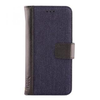 【iPhone Xケース】kuboq 手帳型ケース デニム インディゴブルー/ブラック iPhone X