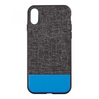 STD ハイブリッドケース バイカラー ブラック/ターコイズブルー iPhone X