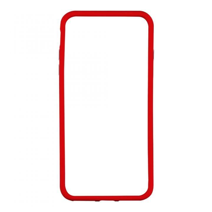 【iPhone Xケース】STD ハイブリッドバンパー レッド iPhone X_0