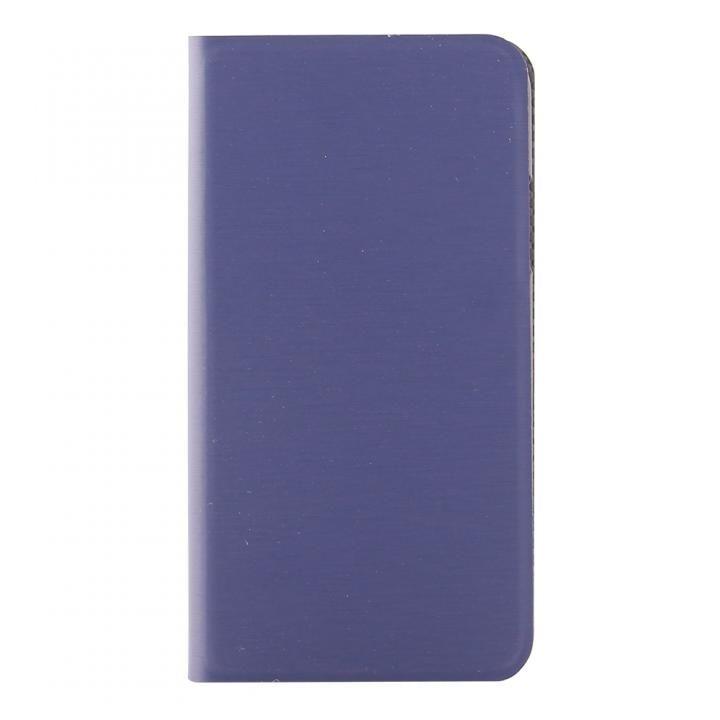 STD スリム手帳型ケース ヘアライン ネイビー iPhone X