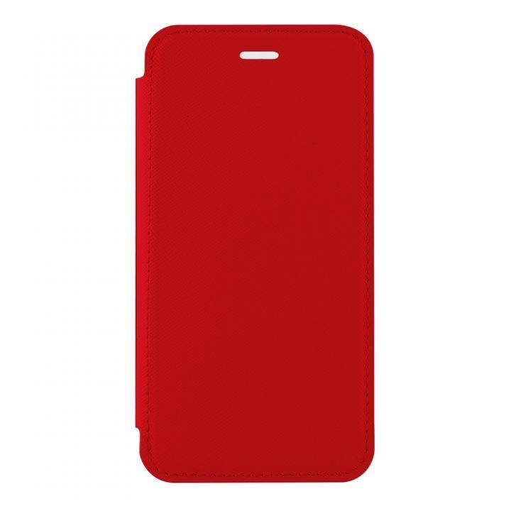 【iPhone Xケース】STD スリム手帳型ケース TPU×PU レッド iPhone X_0