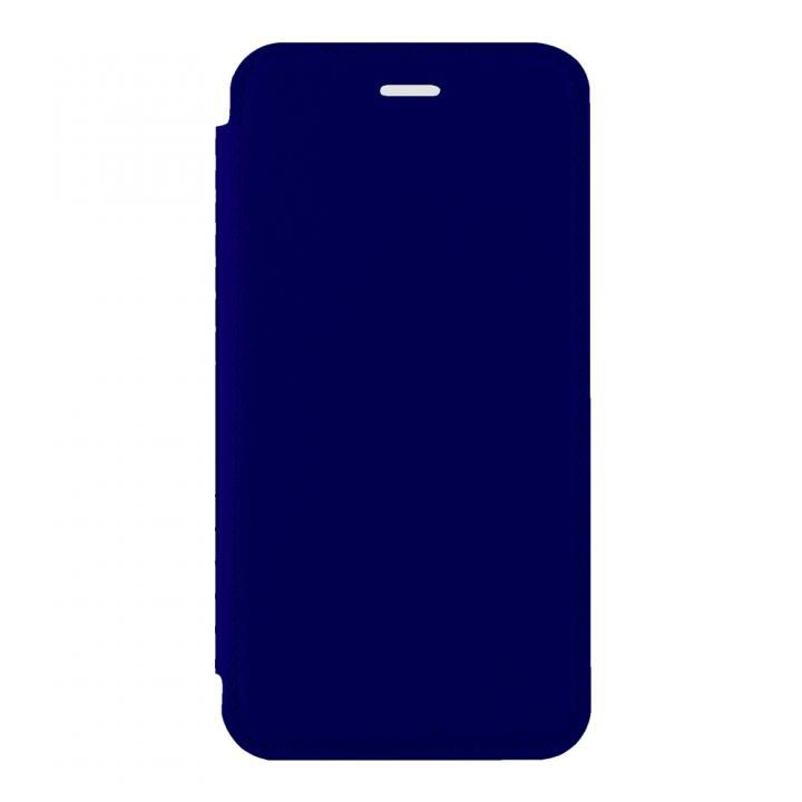 iPhone X ケース STD スリム手帳型ケース TPU×PU ネイビー iPhone X_0
