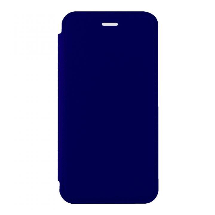 【iPhone Xケース】STD スリム手帳型ケース TPU×PU ネイビー iPhone X_0