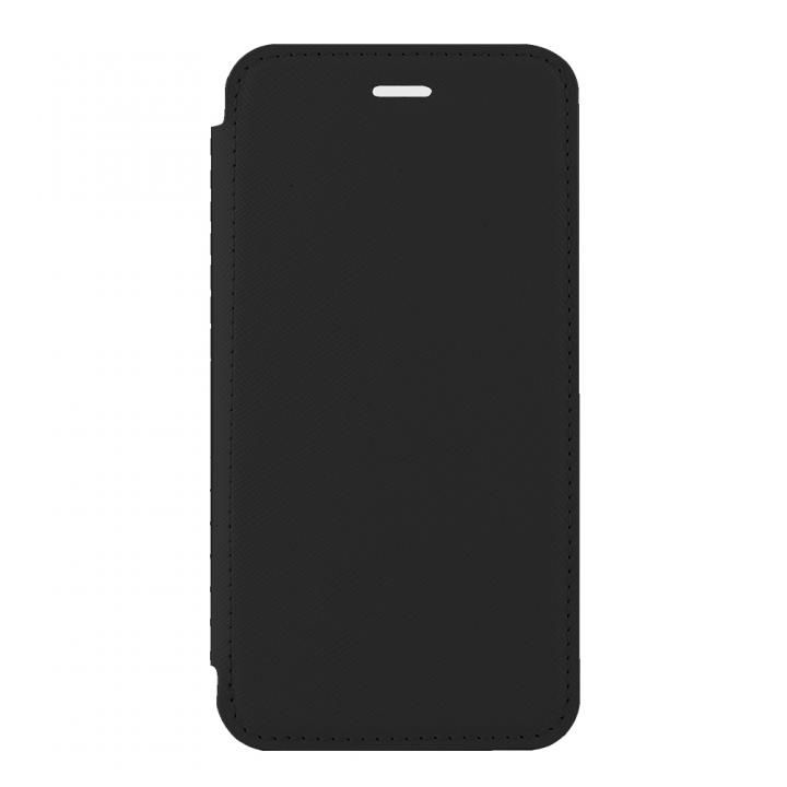 iPhone X ケース STD スリム手帳型ケース TPU×PU ブラック iPhone X_0