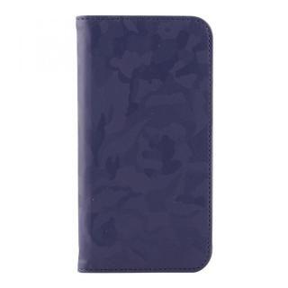 STD スリム手帳型ケース 迷彩 ネイビー iPhone X