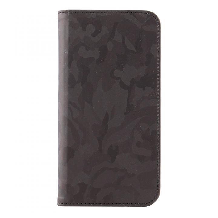 STD スリム手帳型ケース 迷彩 ブラック iPhone X