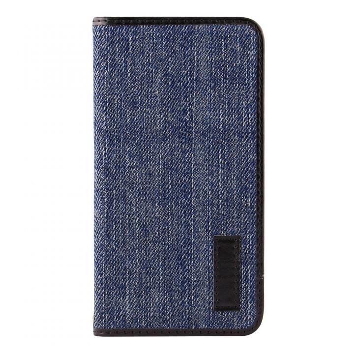 【iPhone Xケース】THE デニム×PUレザーデザイン 手帳型ケース インディゴブルー/ブラック iPhone X_0