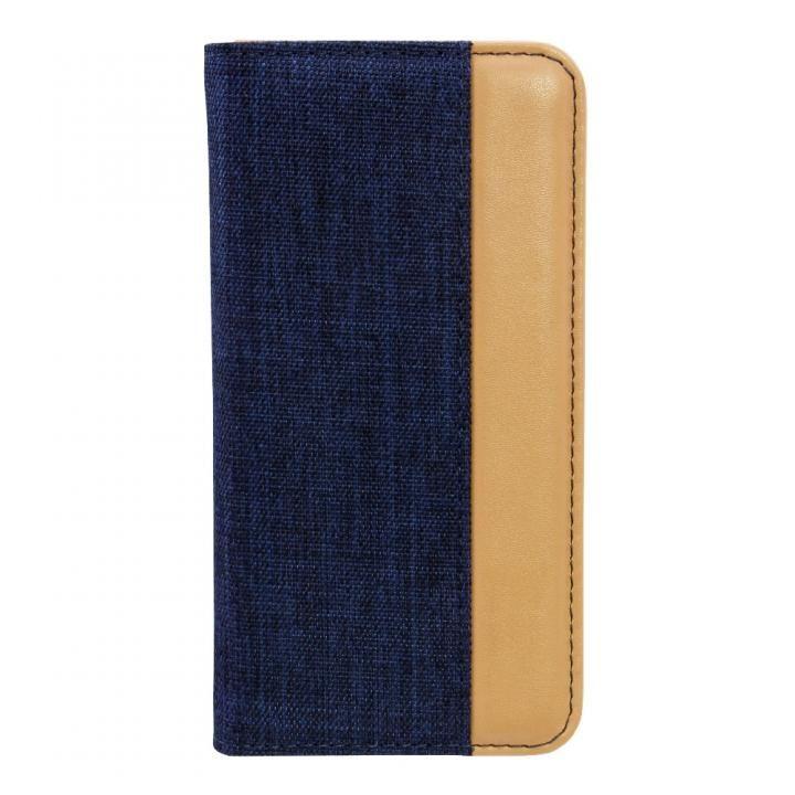 【iPhone Xケース】THE 手帳型ケース バイカラー ネイビー/キャメル iPhone X_0