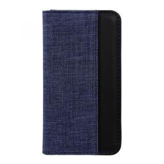 THE 手帳型ケース バイカラー ブルー/ブラック iPhone X