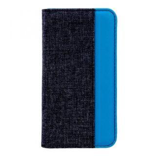 THE 手帳型ケース バイカラー ブラック/ターコイズブルー iPhone X