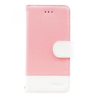 kuboq 手帳型ケース スタンダード ライトピンク/ホワイト iPhone X