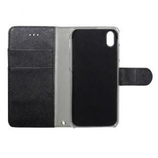 【iPhone Xケース】kuboq 手帳型ケース スタンダード ブラック iPhone X_1