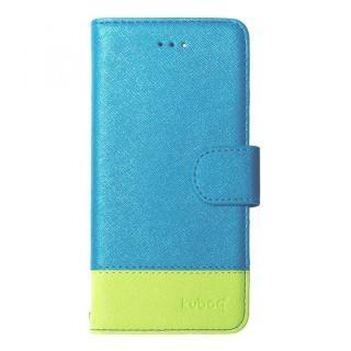 kuboq 手帳型ケース スタンダード ブルー/グリーン iPhone X