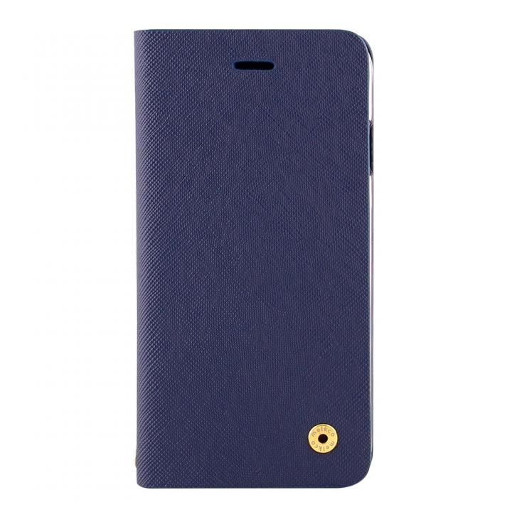 【iPhone Xケース】CURREN 手帳型ケース サフィアーノ調 ネイビー iPhone X_0