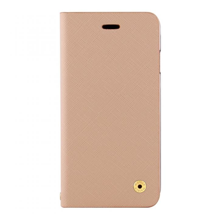 iPhone X ケース CURREN 手帳型ケース サフィアーノ調 アイボリ― iPhone X_0