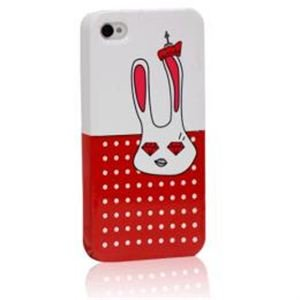 icover Royal family Lapin ホワイト&レッド iPhone4s/4用ケース