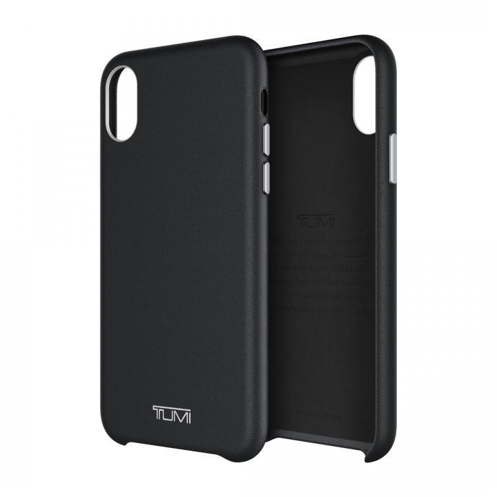 【iPhone Xケース】TUMI レザーケース ブラック iPhone X_0