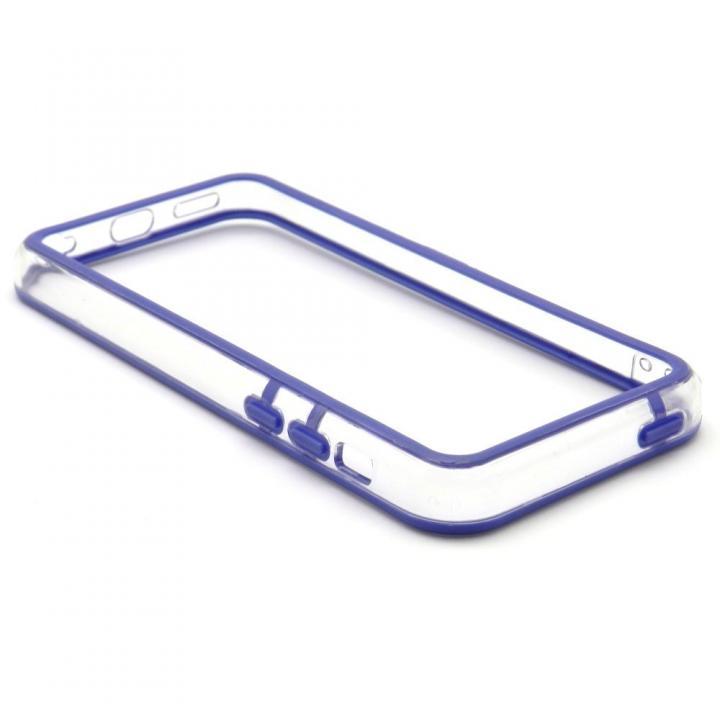 EdgeBand バンパー iPhone5c  ネイビー&クリアー_0