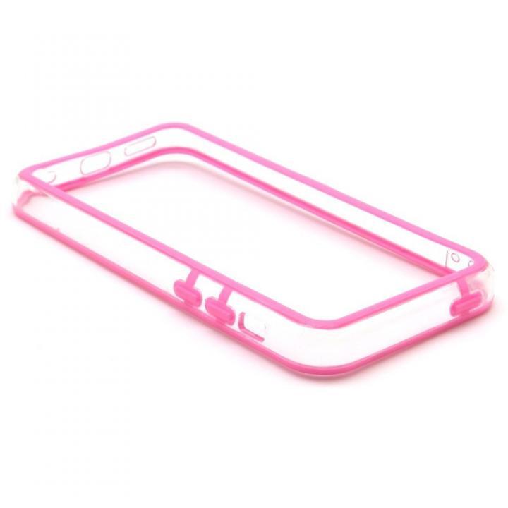 EdgeBand バンパー iPhone5c 【バイオレット&クリアー】 BumperC-013
