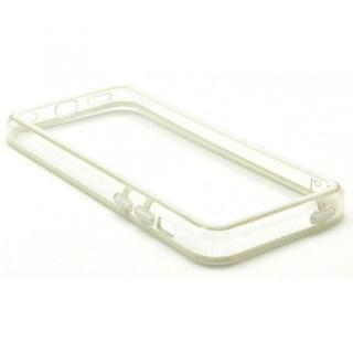 その他のiPhone/iPod ケース EdgeBand バンパー iPhone5c 【ホワイト&クリアー】 BumperC-017