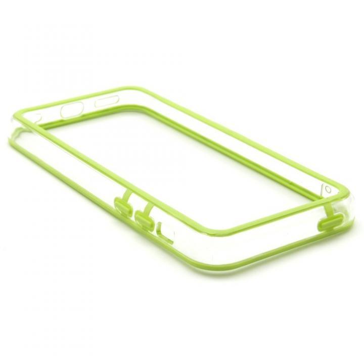EdgeBand バンパー iPhone5c グリーン&クリアー_0