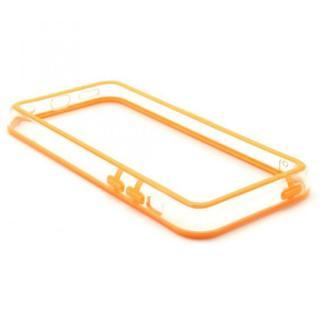 [百花繚乱セール]EdgeBand バンパー iPhone5c  オレンジ&クリアー  BumperC-019