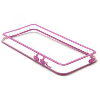 [8月特価]EdgeBand バンパー iPhone5c  パープル&クリアー  BumperC-016