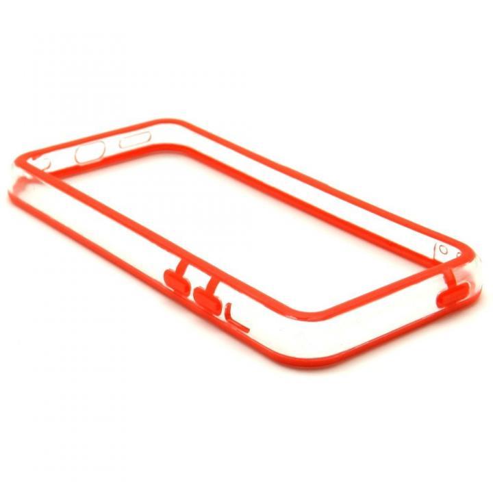 EdgeBand バンパー iPhone5c  レッド&クリアー  BumperC-011_0