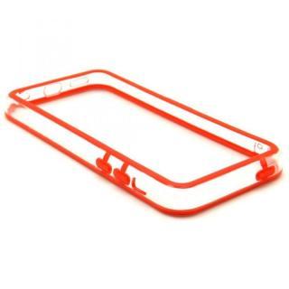[4周年特価]EdgeBand バンパー iPhone5c  レッド&クリアー  BumperC-011