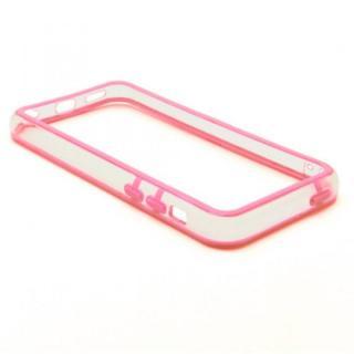 [4周年特価]EdgeBand バンパー iPhone5c 【ピンク&クリアー】 BumperC-012
