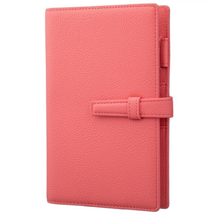 GRAMAS Cultivate シュリンク調PUレザー 2022年用システム手帳 Bible size Coral Pink【11月上旬】_0