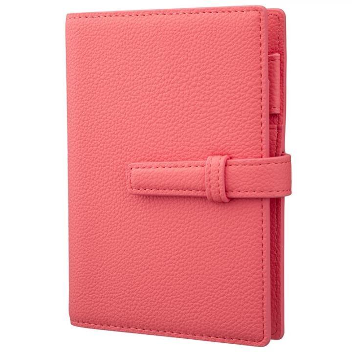 GRAMAS Cultivate シュリンク調PUレザー 2022年用システム手帳 Mini 6 hole size Coral Pink【11月上旬】_0
